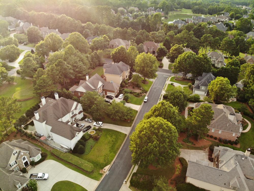 Suburbs in Atlanta, Georgia