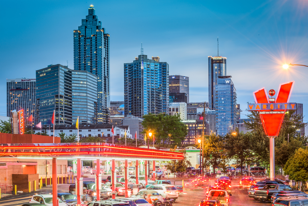 Skyline view of Atlanta, Georgia