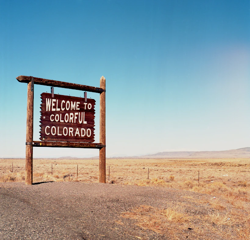 Welcome sign for Colorado