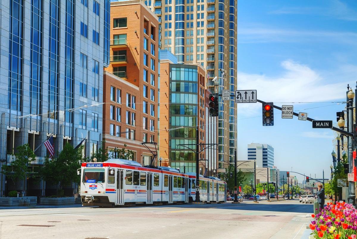 View of Downtown Salt Lake City.