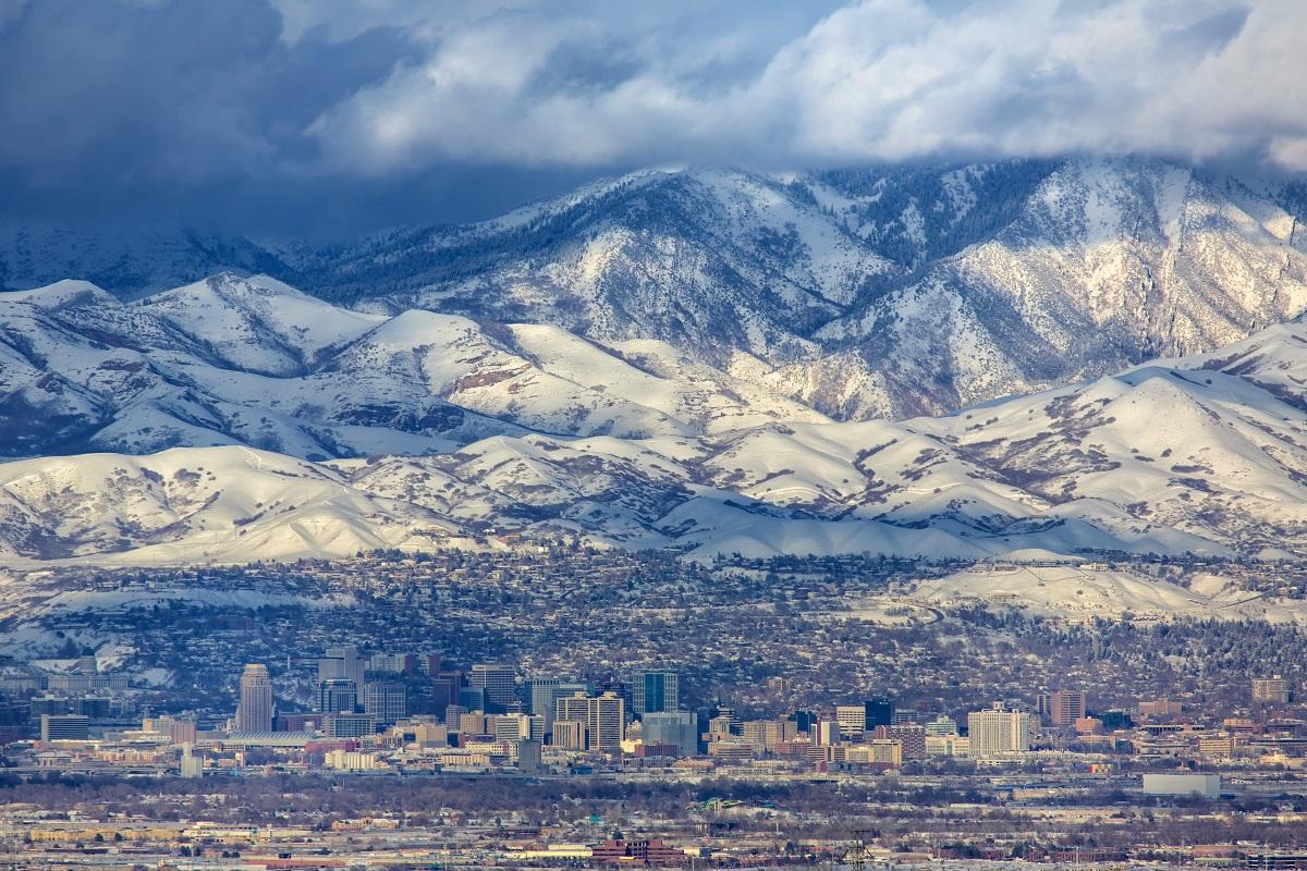 Mountain view in Salt Lake City, Utah