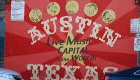 Sign for live music in Austin, Texas