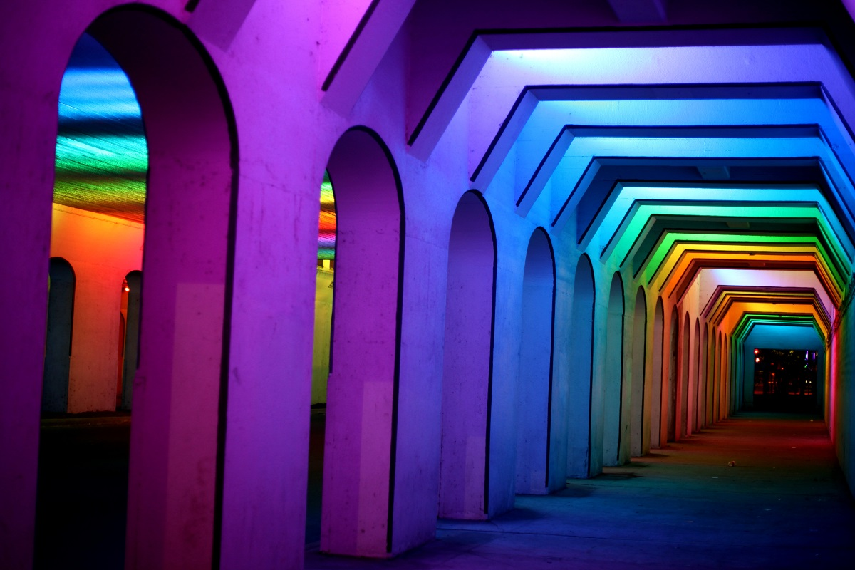 The Rainbow Light Tunnel is one of the best things to do in Birmingham, Alabama