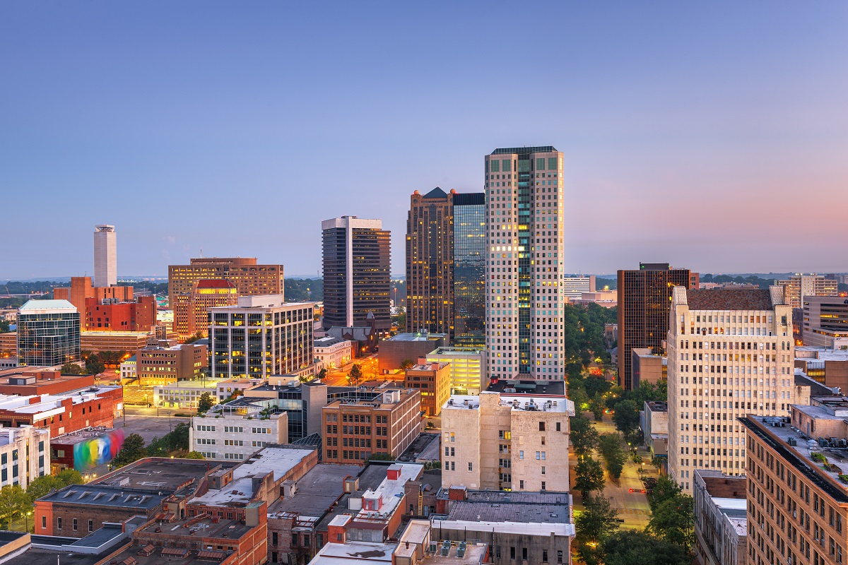 Skyline view of Birmingham, Alabama