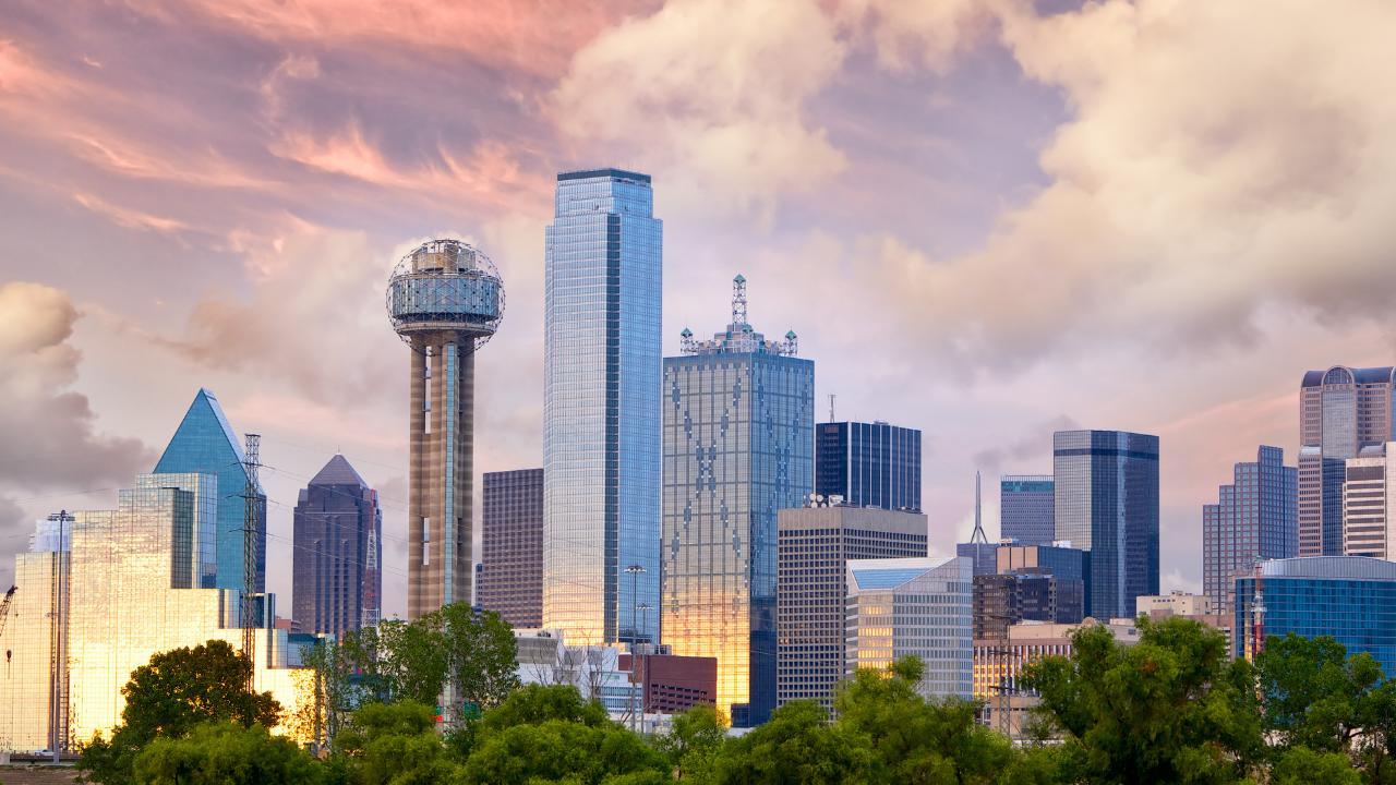 Skyline view of Dallas, Texas