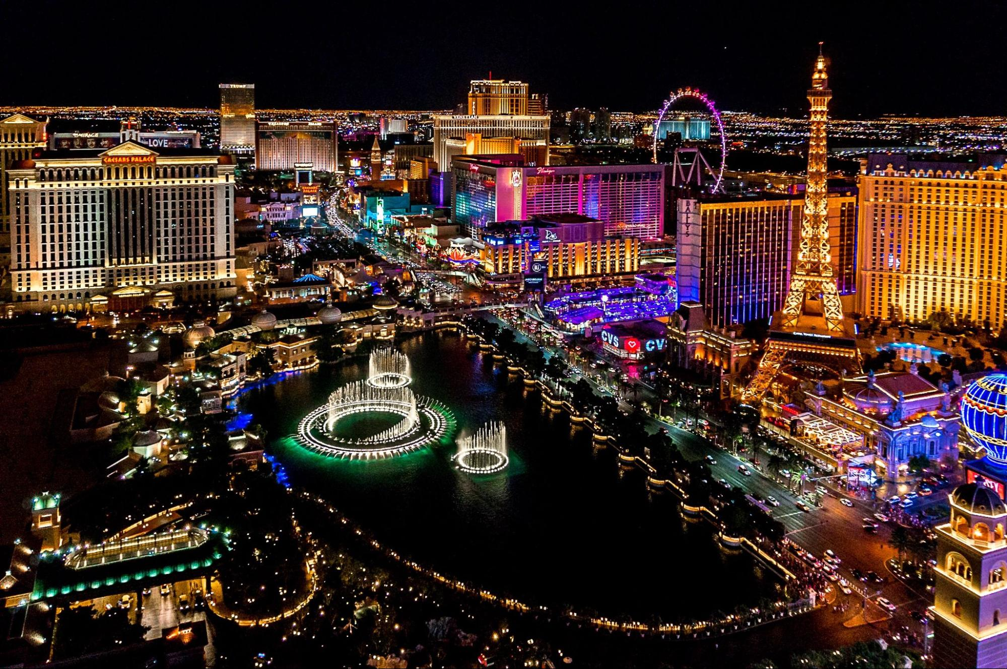 View of the city of Las Vegas, Nevada.