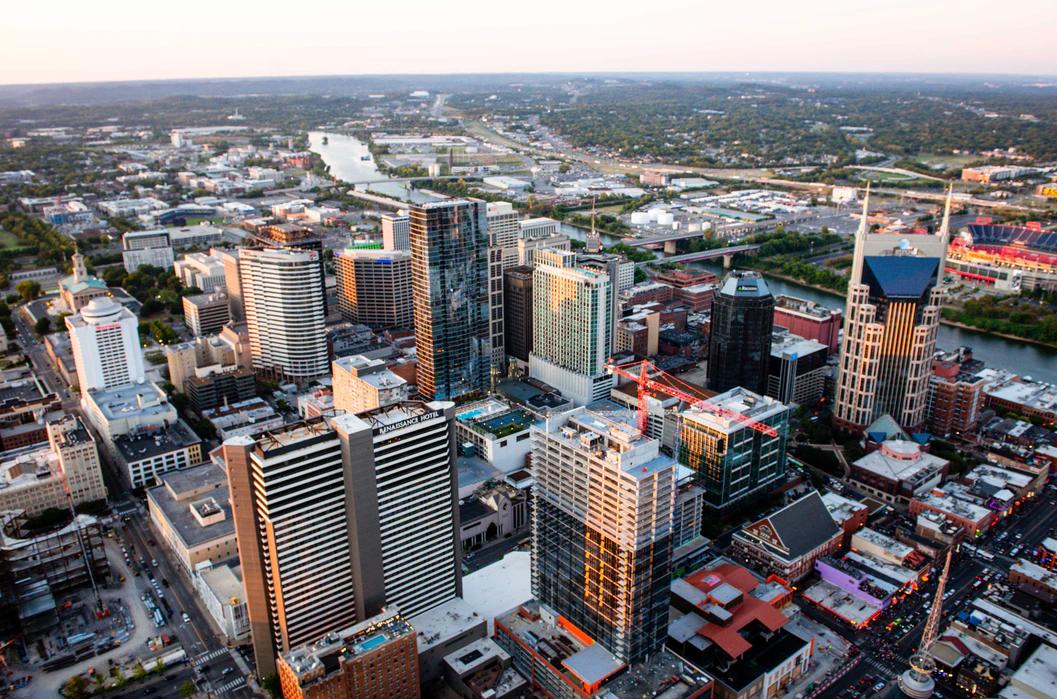 Skyline view of Nashville, TN.