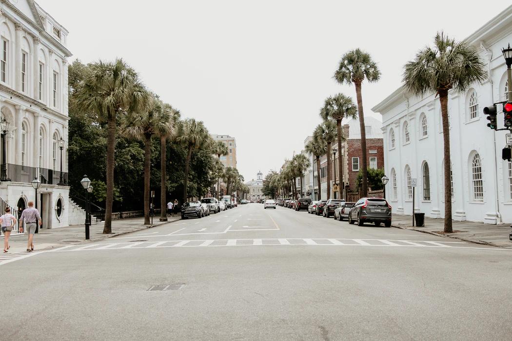 Street view of Charleston, SC.