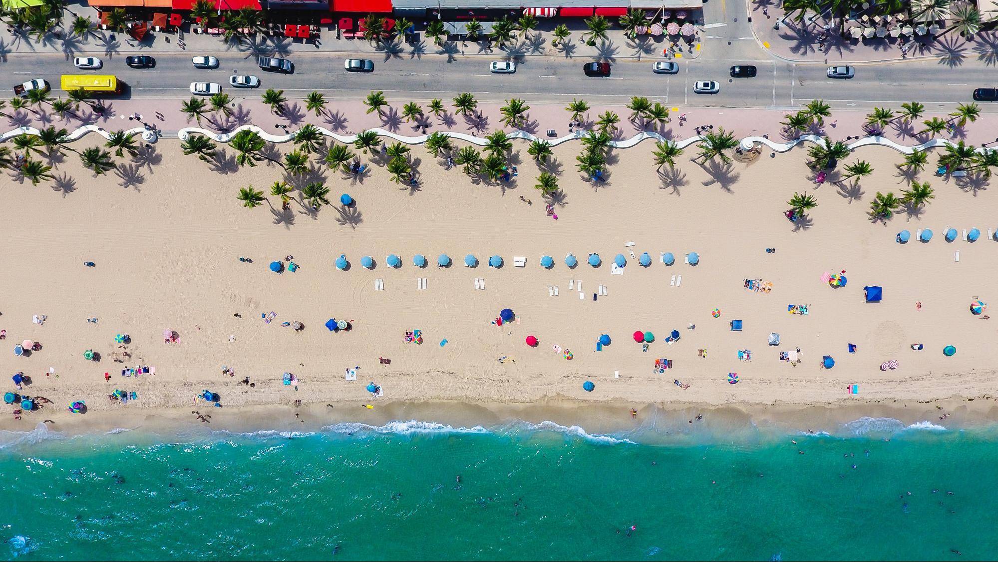 Beach view of St. Petersburg, Florida