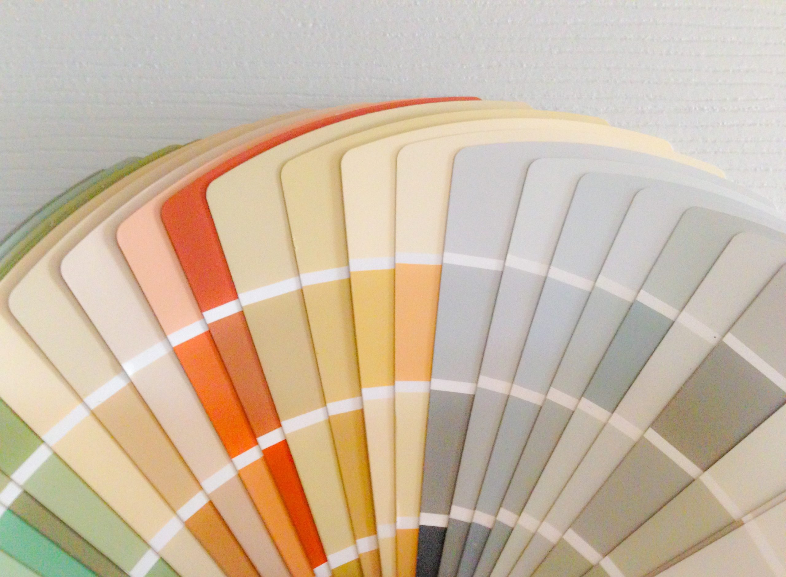 Paint color swatch to pick a color for interior design projects.