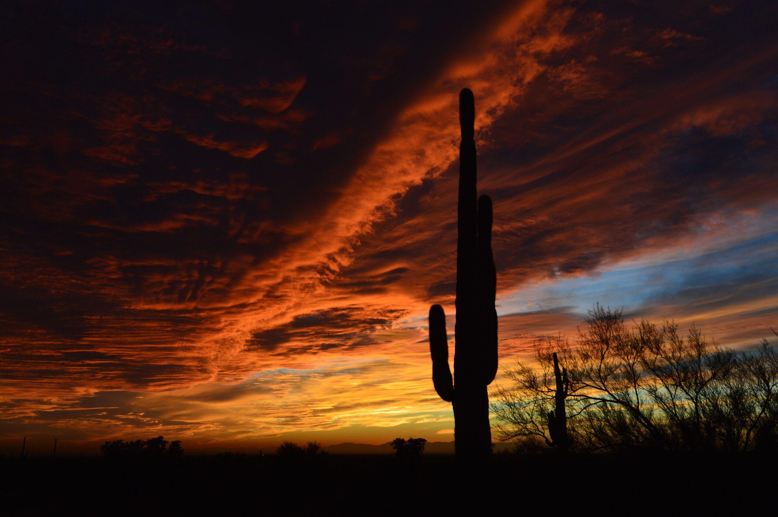 Arizona sunset near Phoenix, Arizona