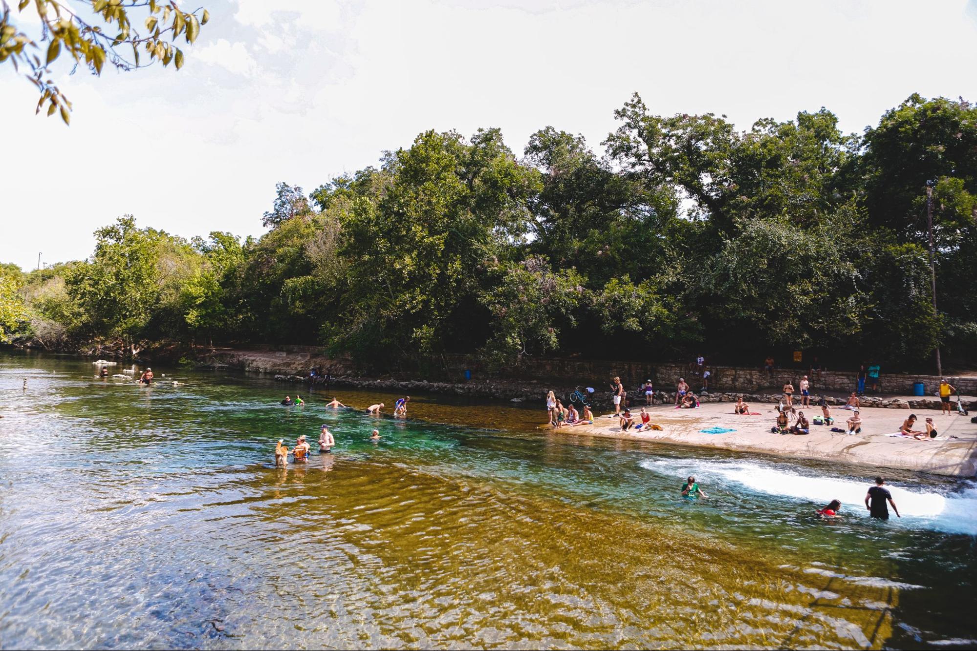 Barton Springs Creek in Austin, Texas