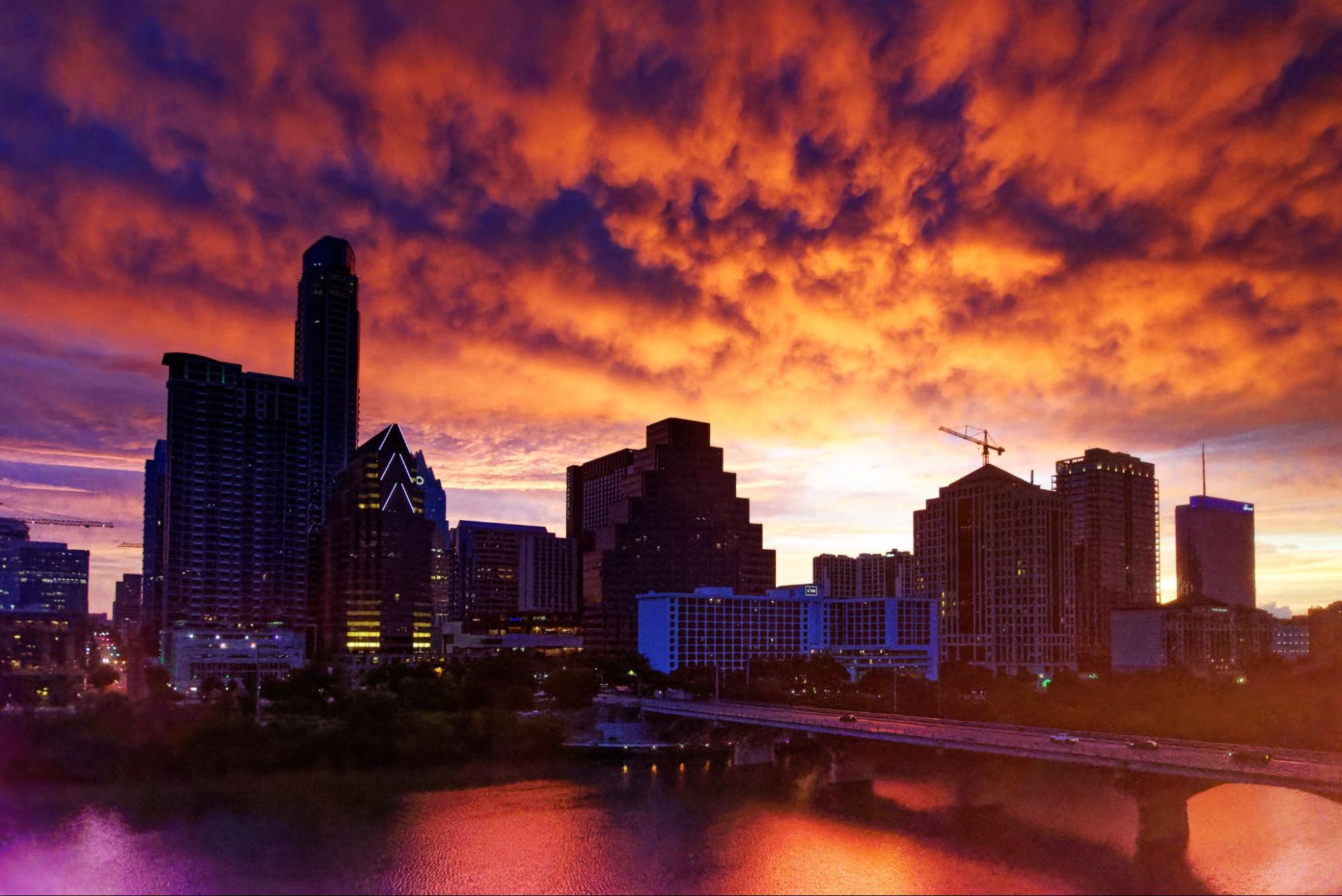 View of South Congress neighborhood in Austin, Texas