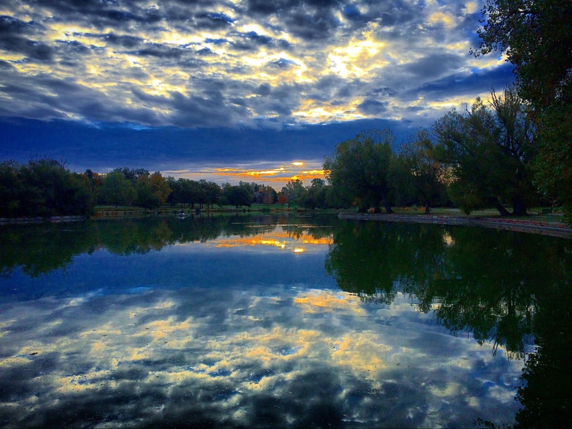 View of Washington Park in Denver.