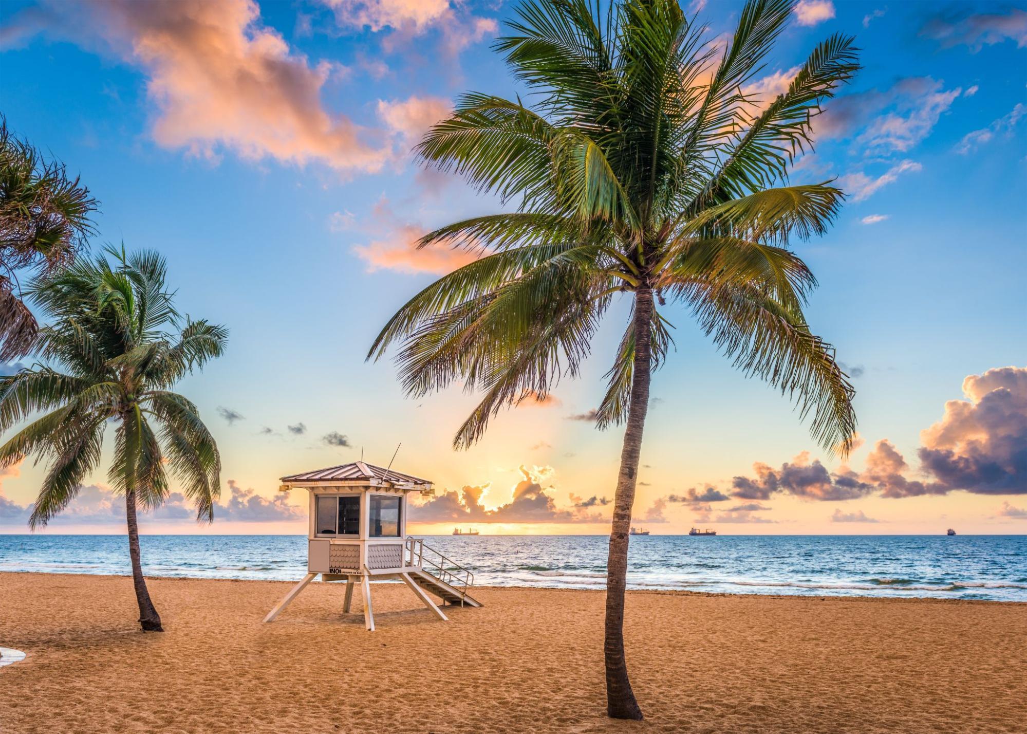 Beautiful beach in Fort Lauderdale, Florida.