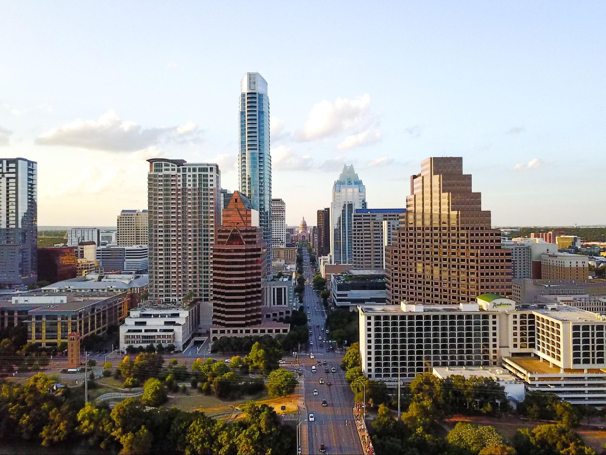 The Domain neighborhood in Austin, Texas