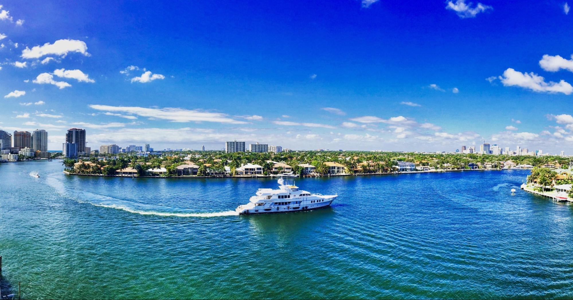 View of the water in Fort Lauderdale, Florida