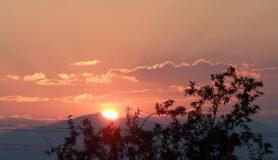 Sunset from Ruby Hill neighborhood, Denver