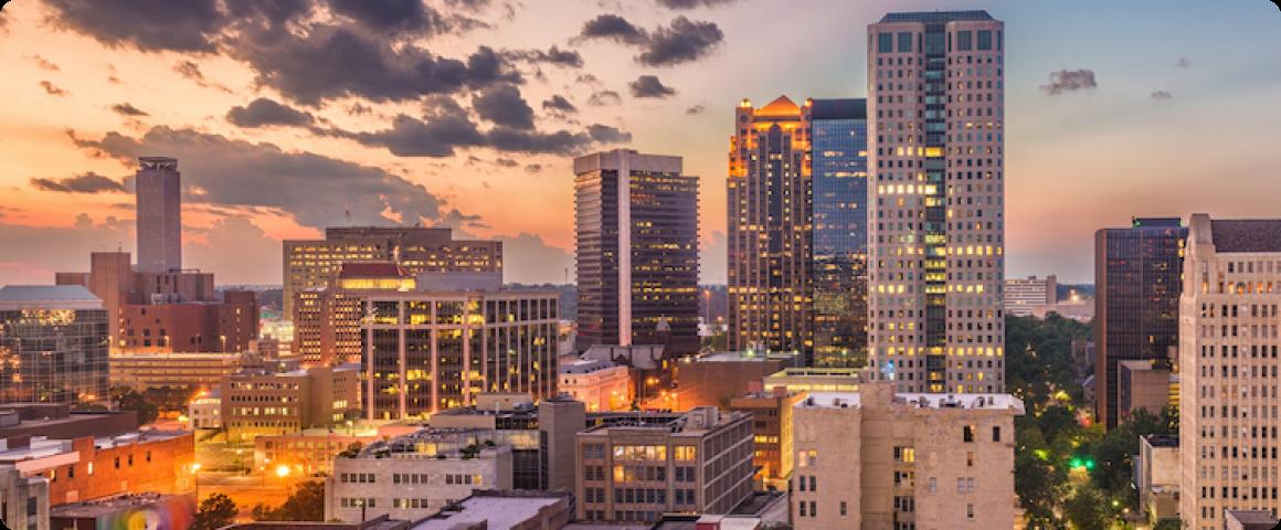 Image of Birmingham Alabama where Landing has an office.