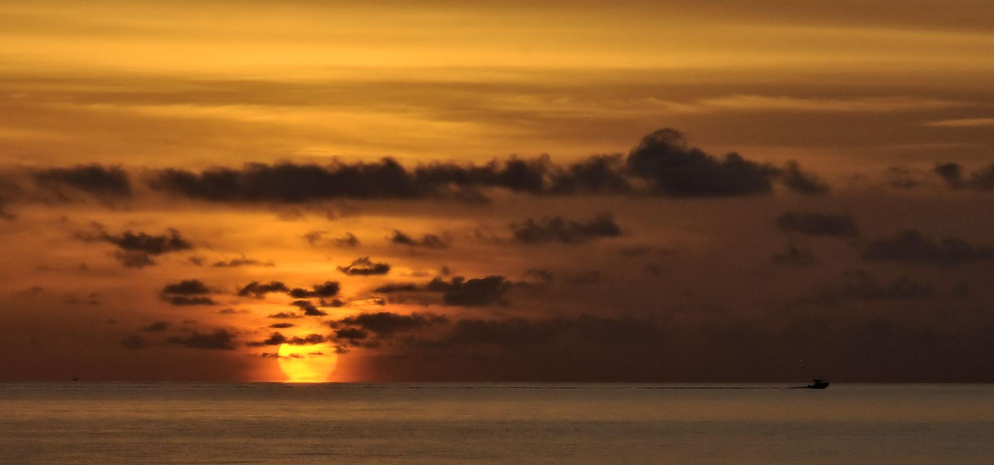 View of Pompano Beach, Fort Lauderdale, Sunset
