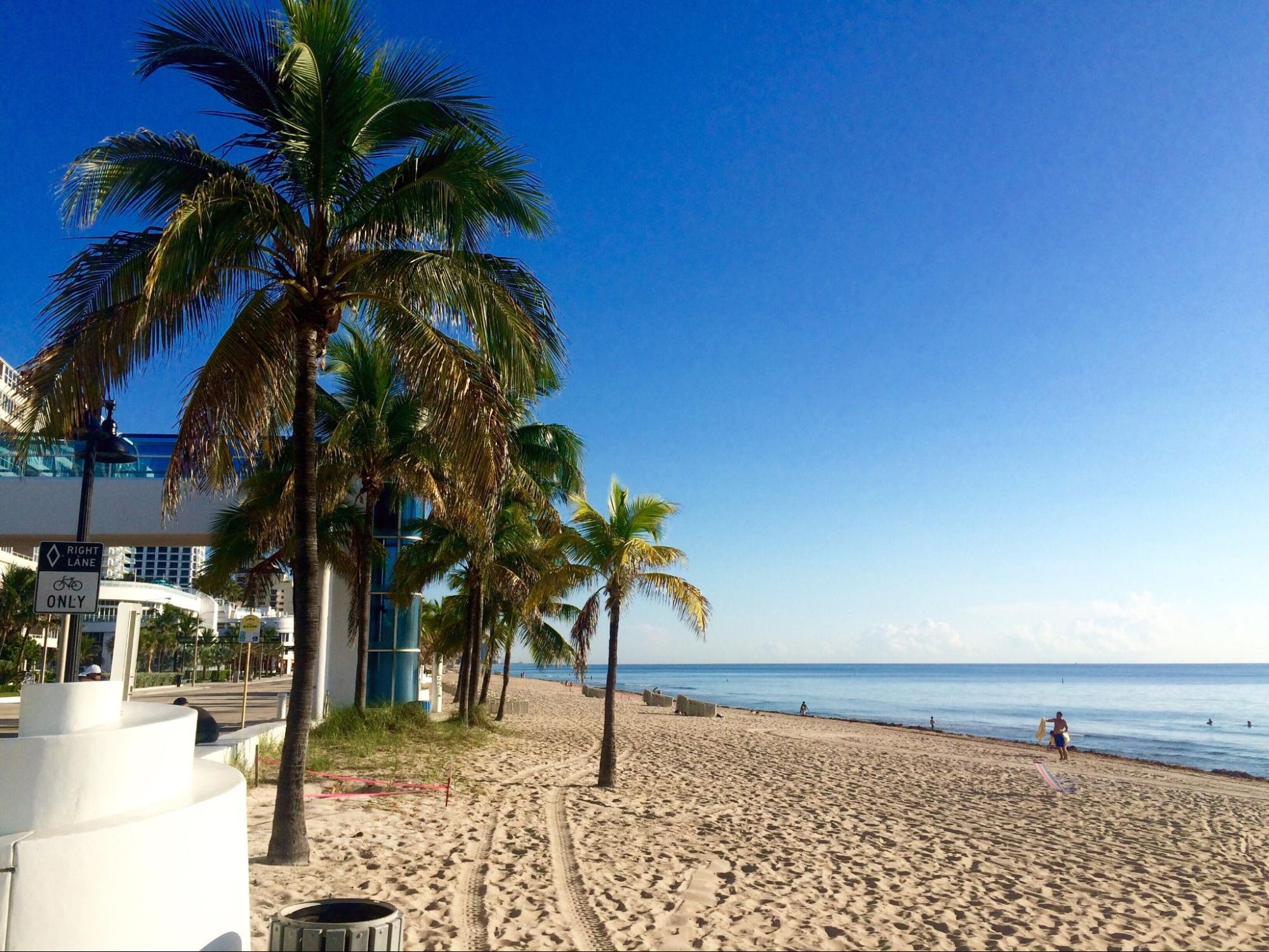 Beach view in Fort Lauderdale