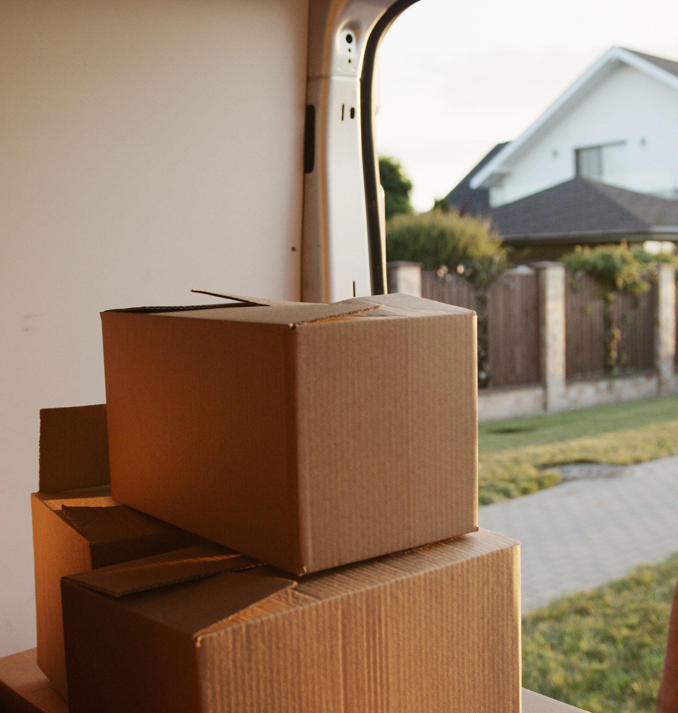 Moving box in van