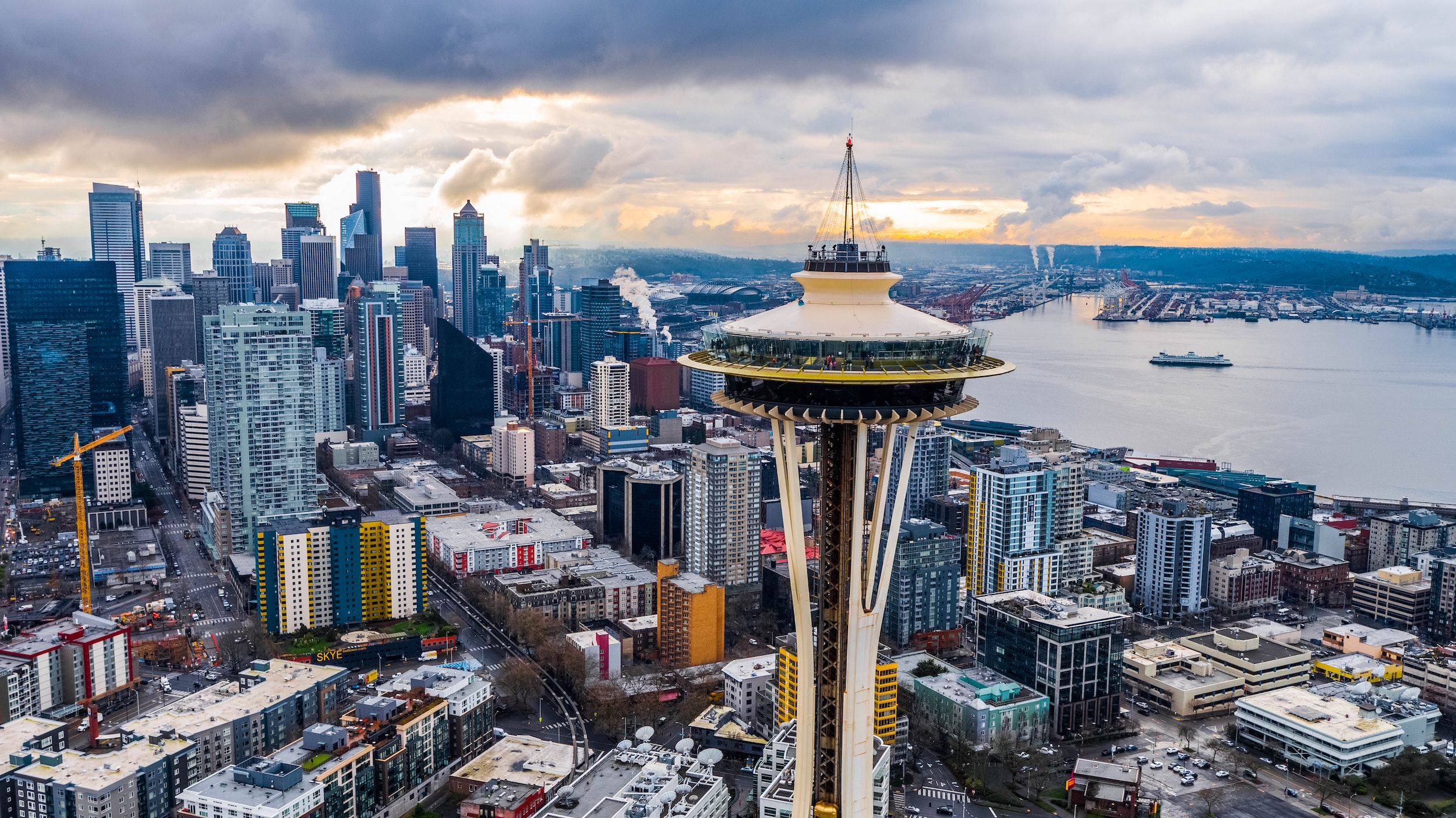View of Seattle and Space Needle