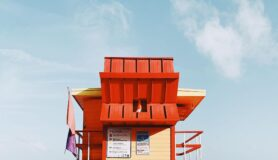 Lifeguard stand in South Beach, Miami