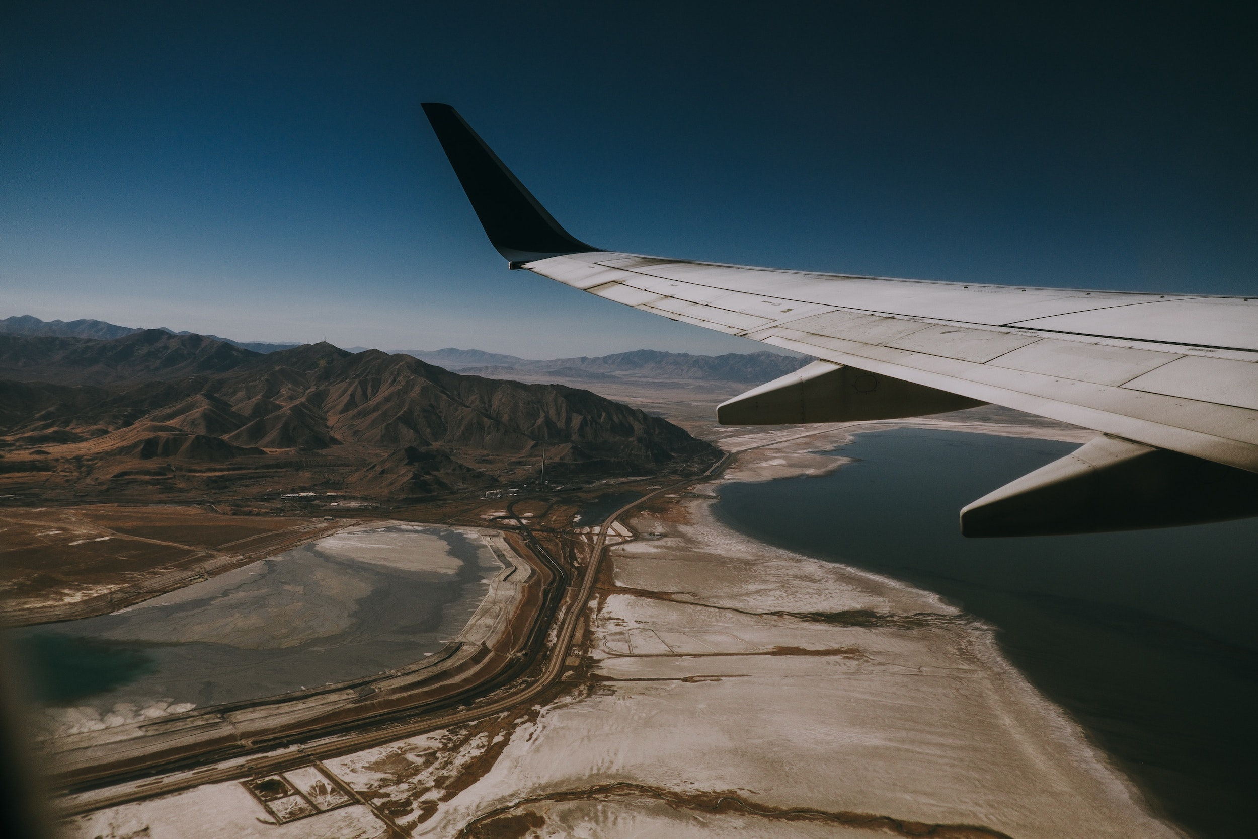 View of Salt Lake City from a plane