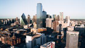 Skyline view of Dallas, Texas.